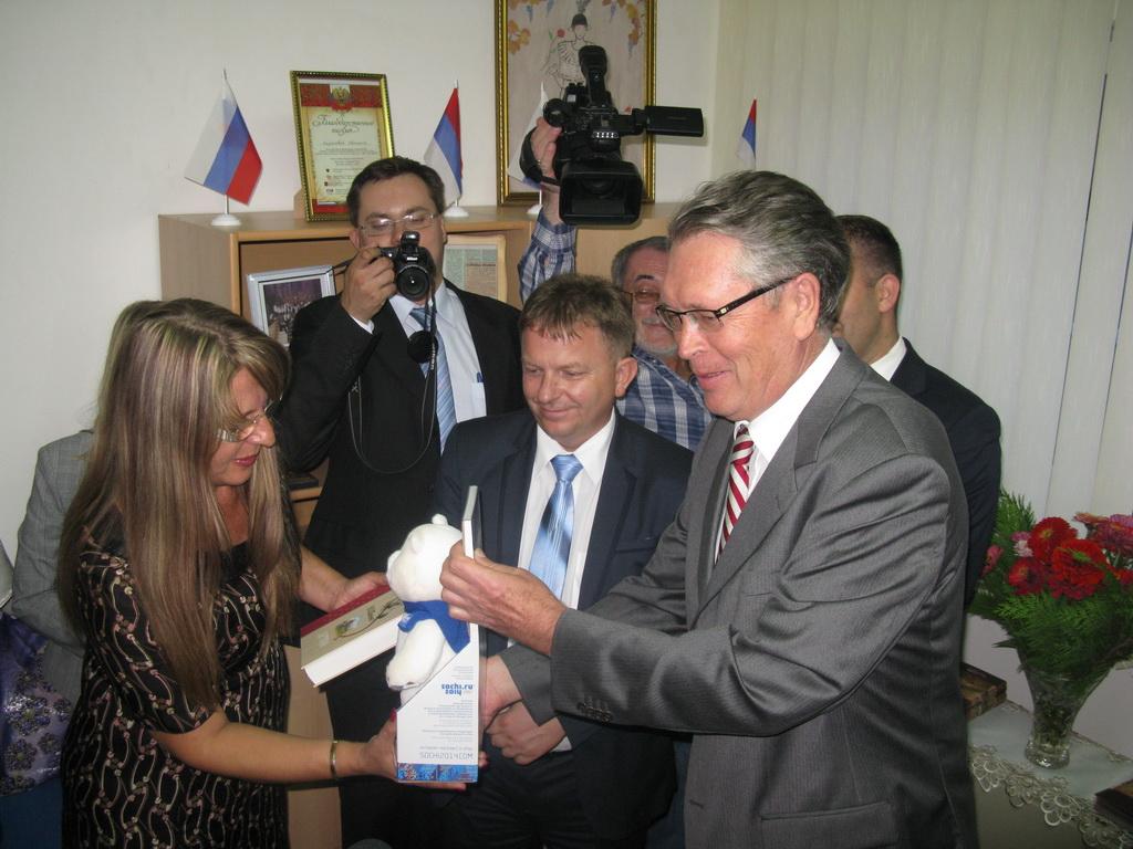 Амбасадор А.В.Чепурин у Деспотовцу 19.08.2014.године