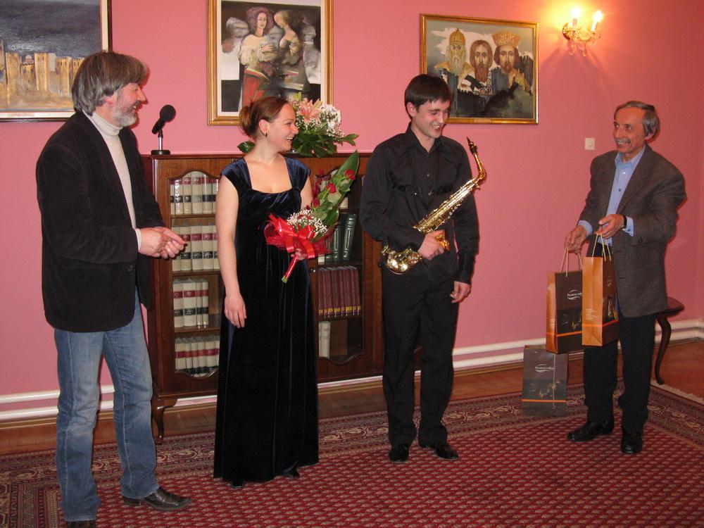 Концерт Марије Немцове и Виталија Ватуље у Деспотовцу 07.02.2012.године
