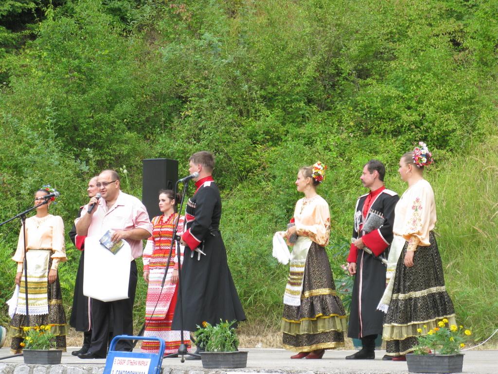 Руски Козаци на прослави Огњене Марије 2013.године у Миливи